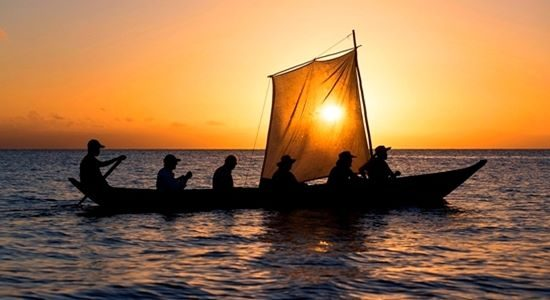 Boat - Sailing sunset