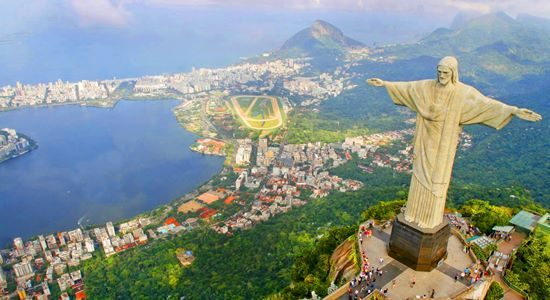 Christ the Redeemer is a colossal statue of Jesus Christ at the summit of Mount Corcovado, Rio de Janeiro, Brazil. It was completed in 1931 and stands 98 feet (30 metres) tall.