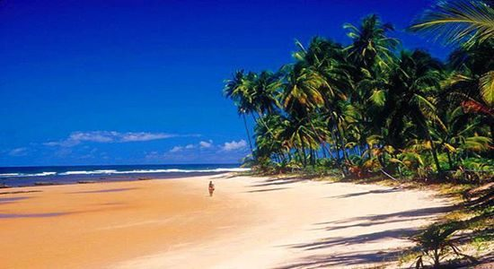 Marau Peninsula, an idyllic area of islands, mangroves, lakes and deserted beaches. Add Marau to your holiday to Brazil.