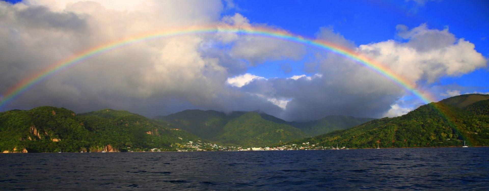 Rainbow in Soufrière